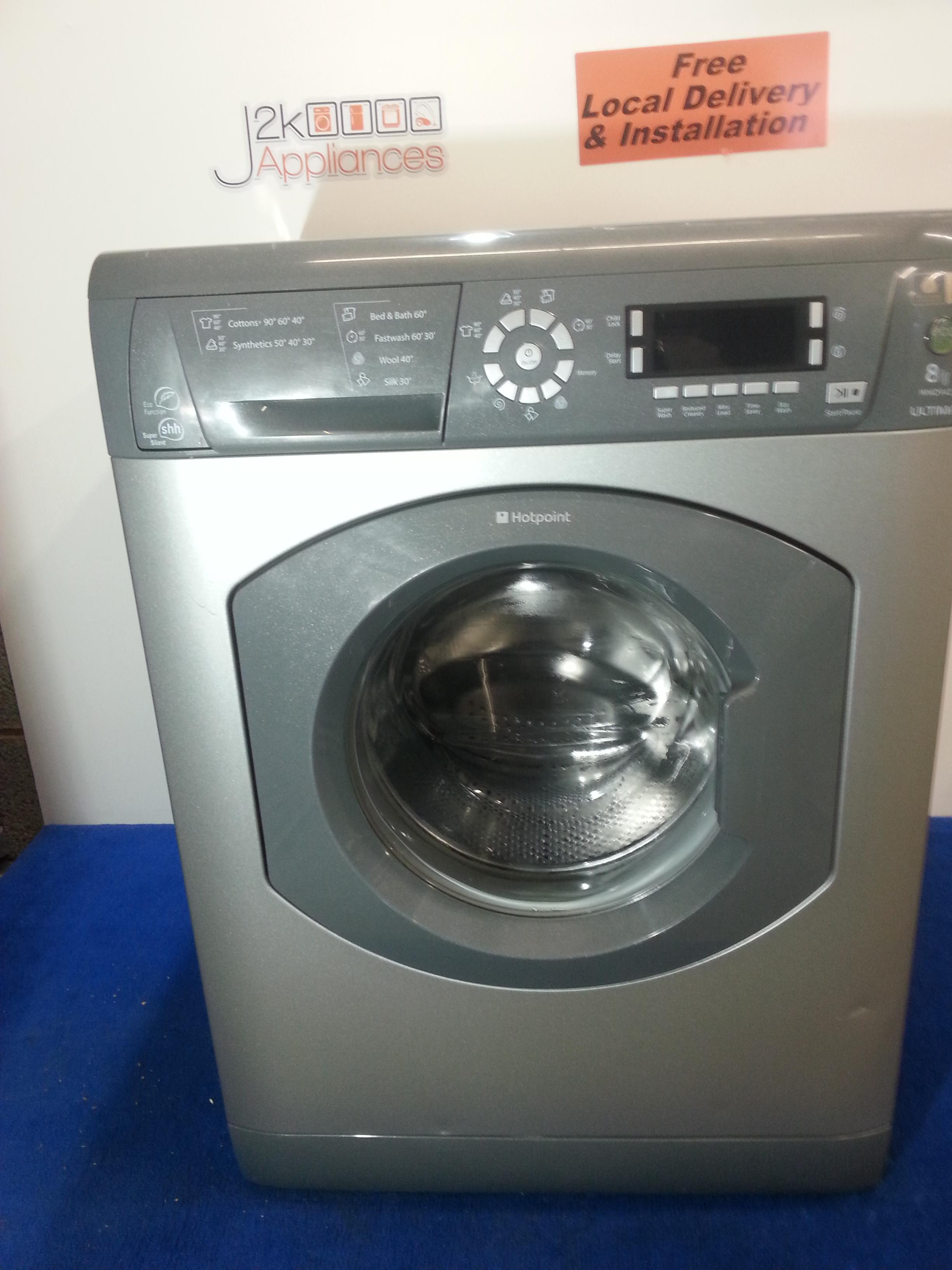 57b379c7ebbf WM137-Silver Hotpoint Ultima 8kg 1400 Spin Washing Machine Model:WMD942