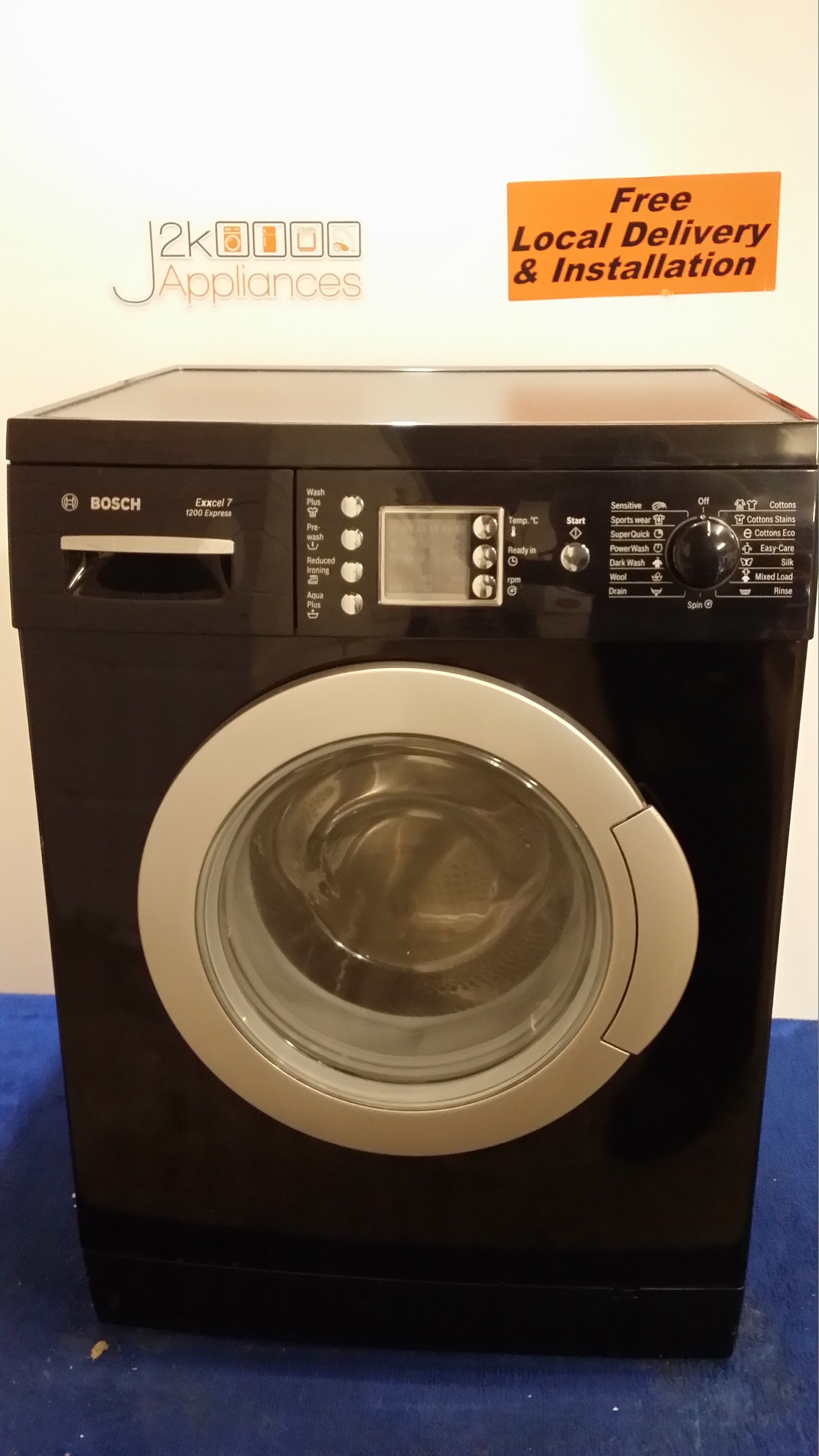 WM166- Black Bosch Excell 7kg 1200 Spin Washing Machine, Model – WAE2446