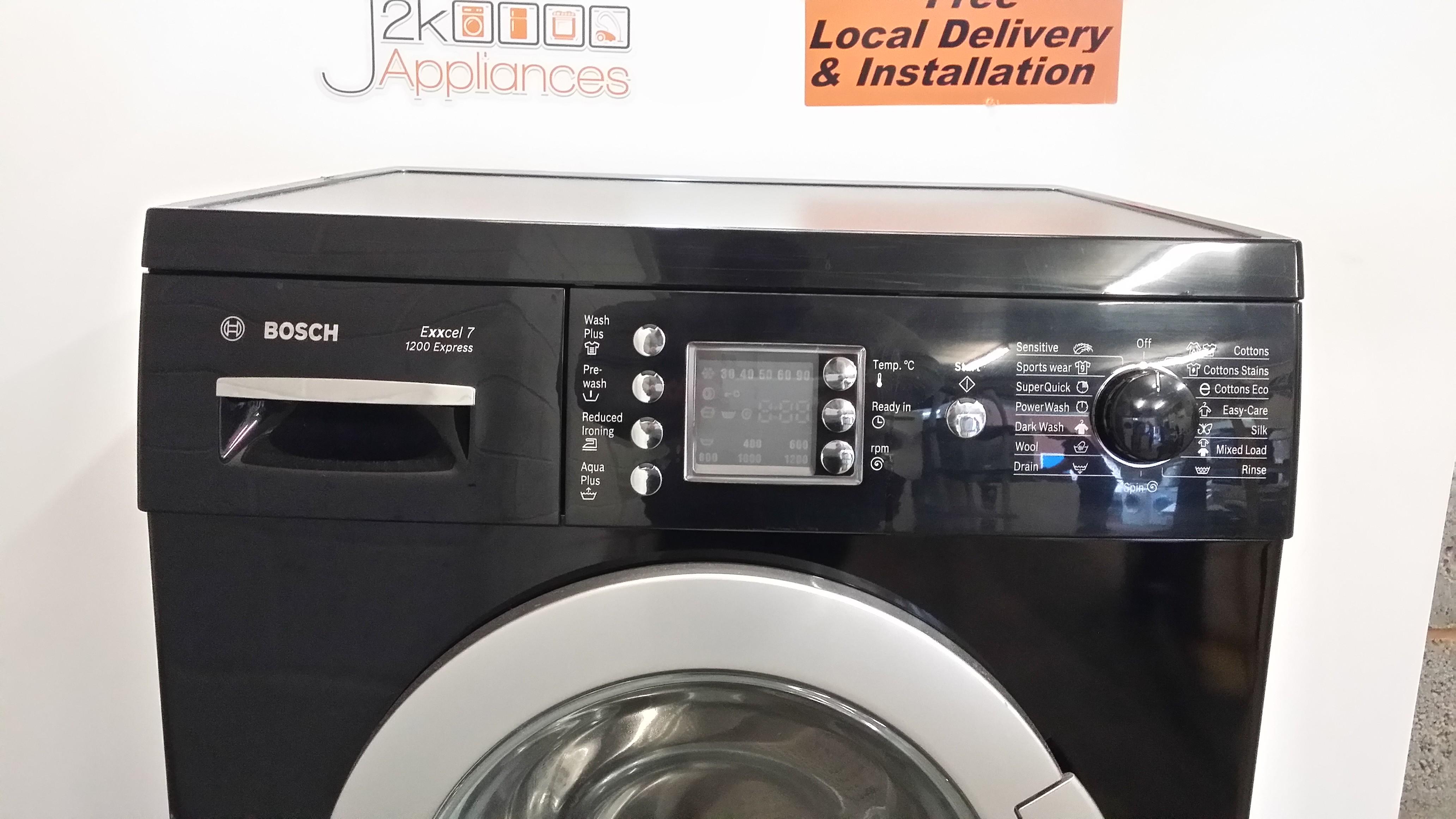 WM166- Black Bosch Excell 7kg 1200 Spin Washing Machine, Model – WAE2446