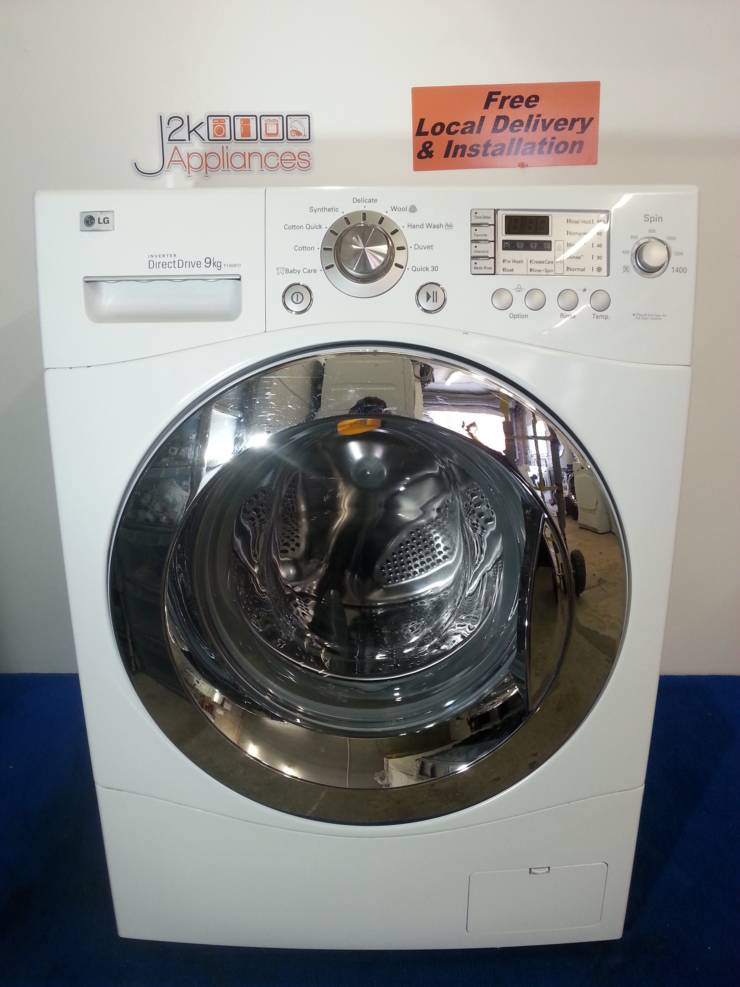 Wm088 lg direct drive 9kg 1400 spin washing machine j2k for How much is a washing machine motor