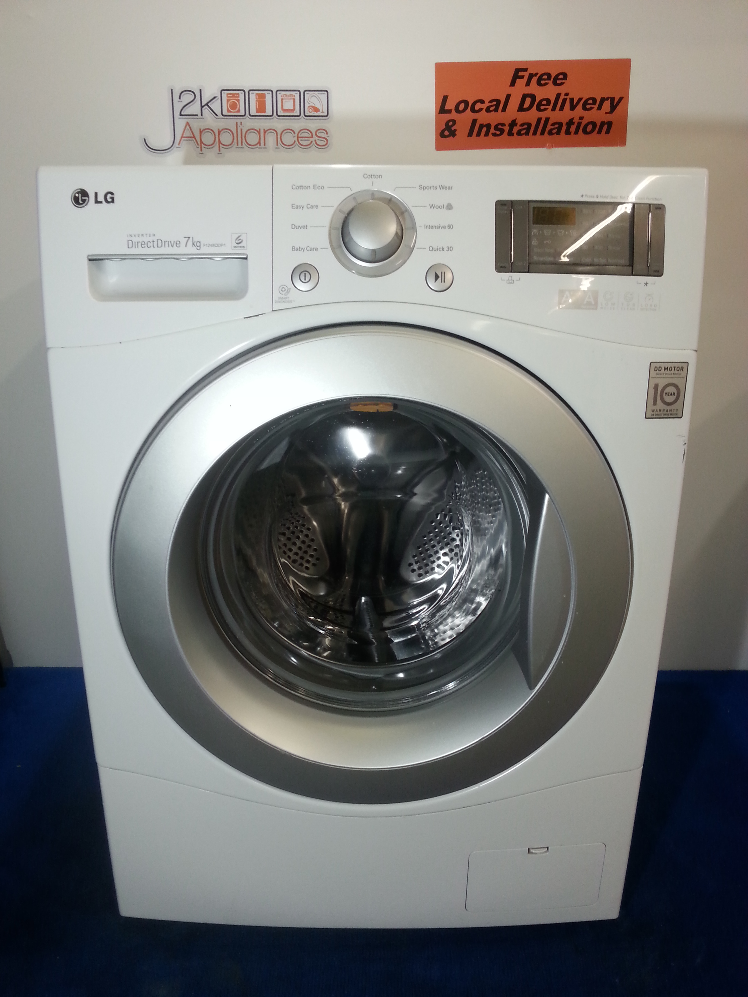 Wm100 lg direct drive 7 kg 1200 spin washing machine for Lg washing machine motor price