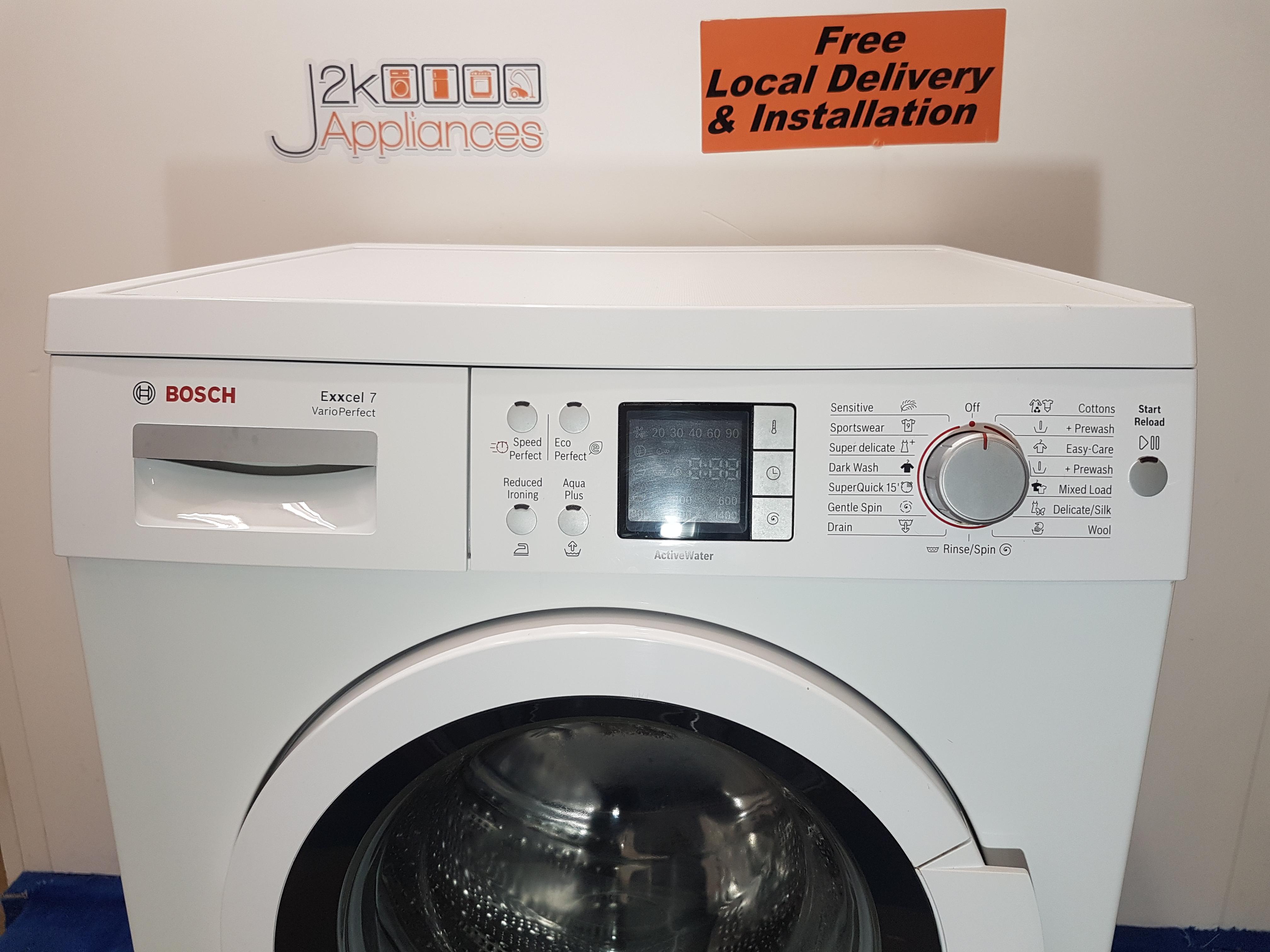 WM196-Bosch Excell Vario Perfect 1400 Spin 7kg Washing Machine