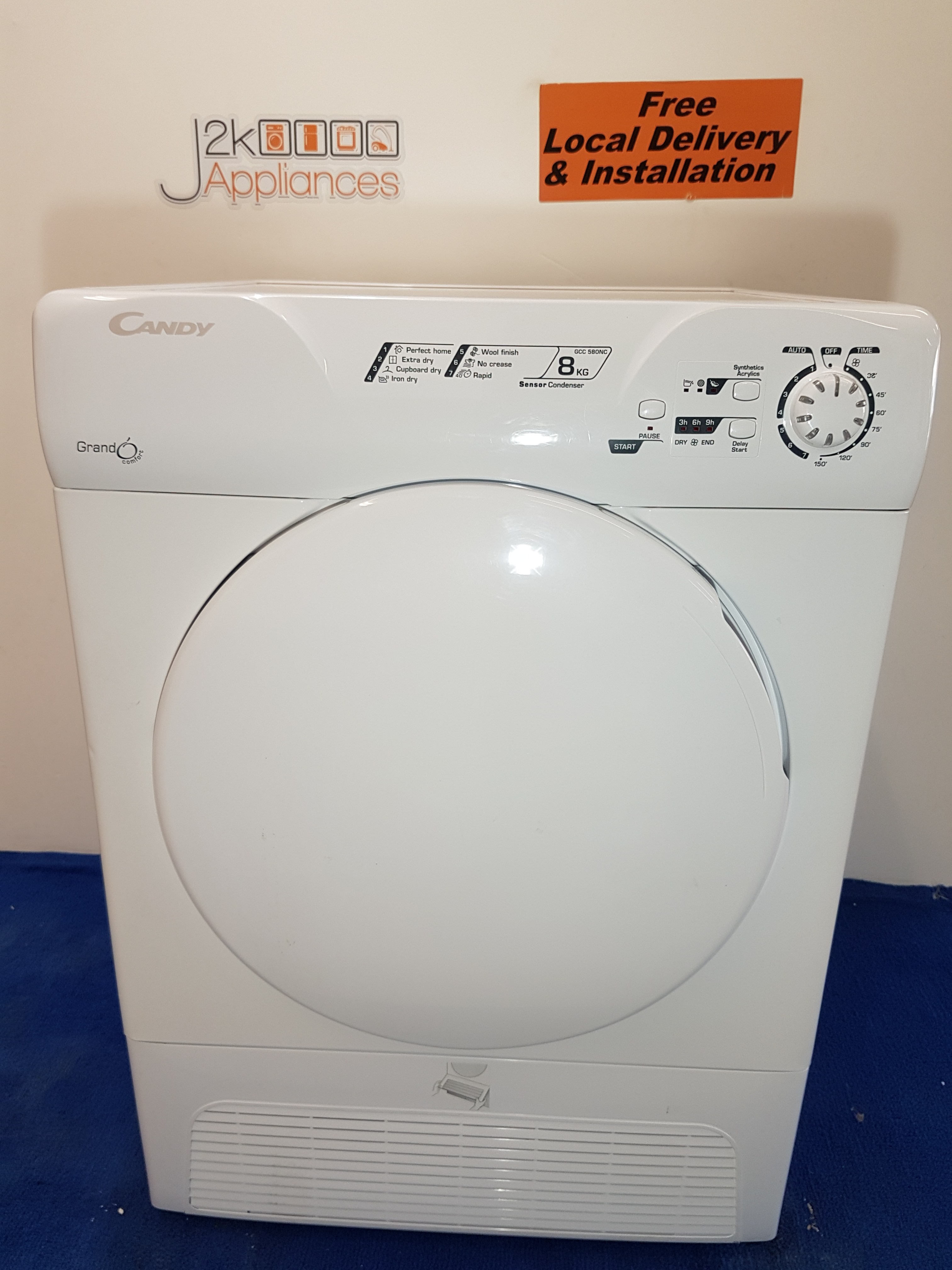 Dy125 Candy Grand O 8kg Condenser Dryer J2k Appliances