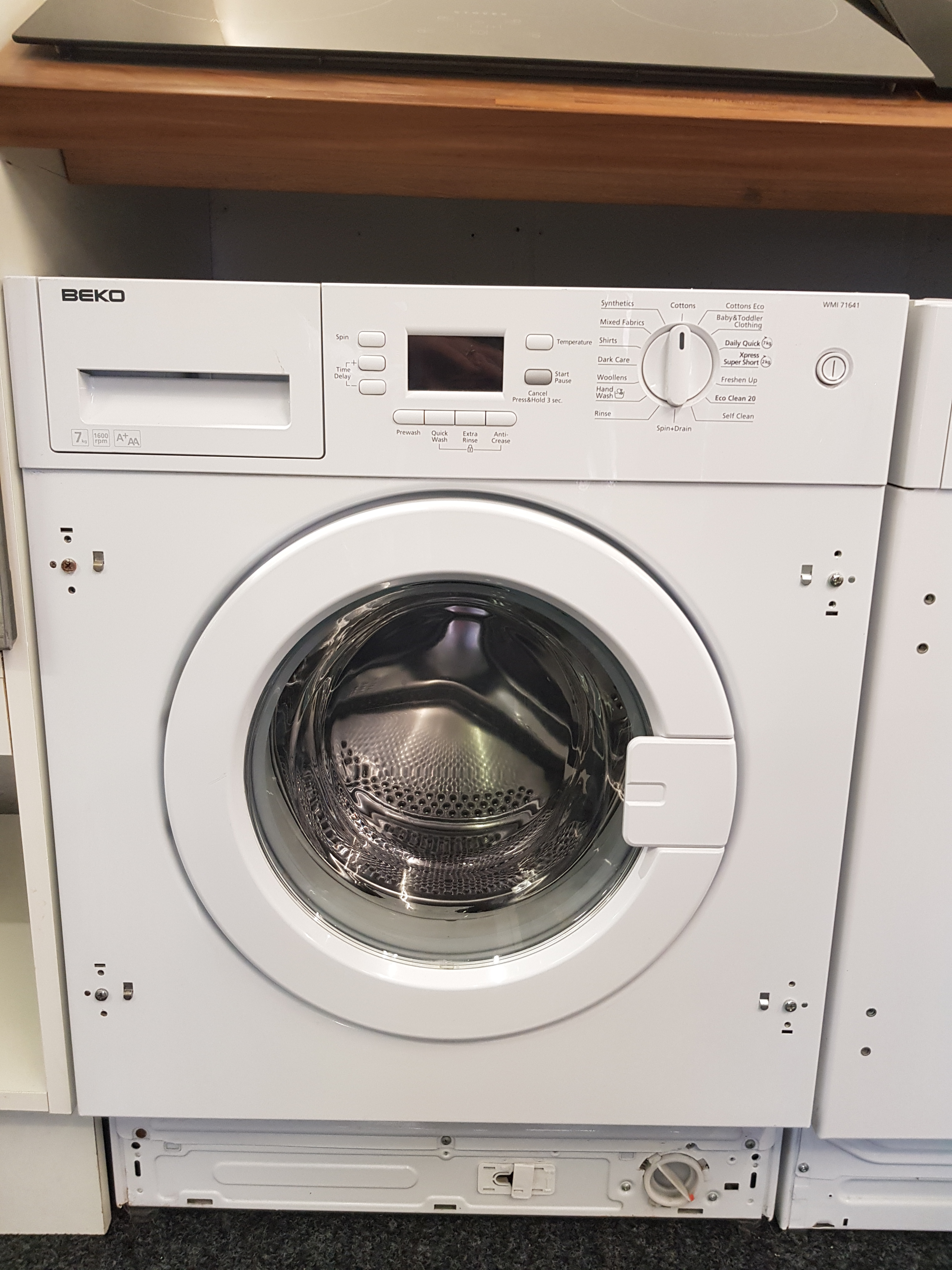 Details about Beko Integrated 7kg 1400 Spin Washing Machine Model: WMI71641