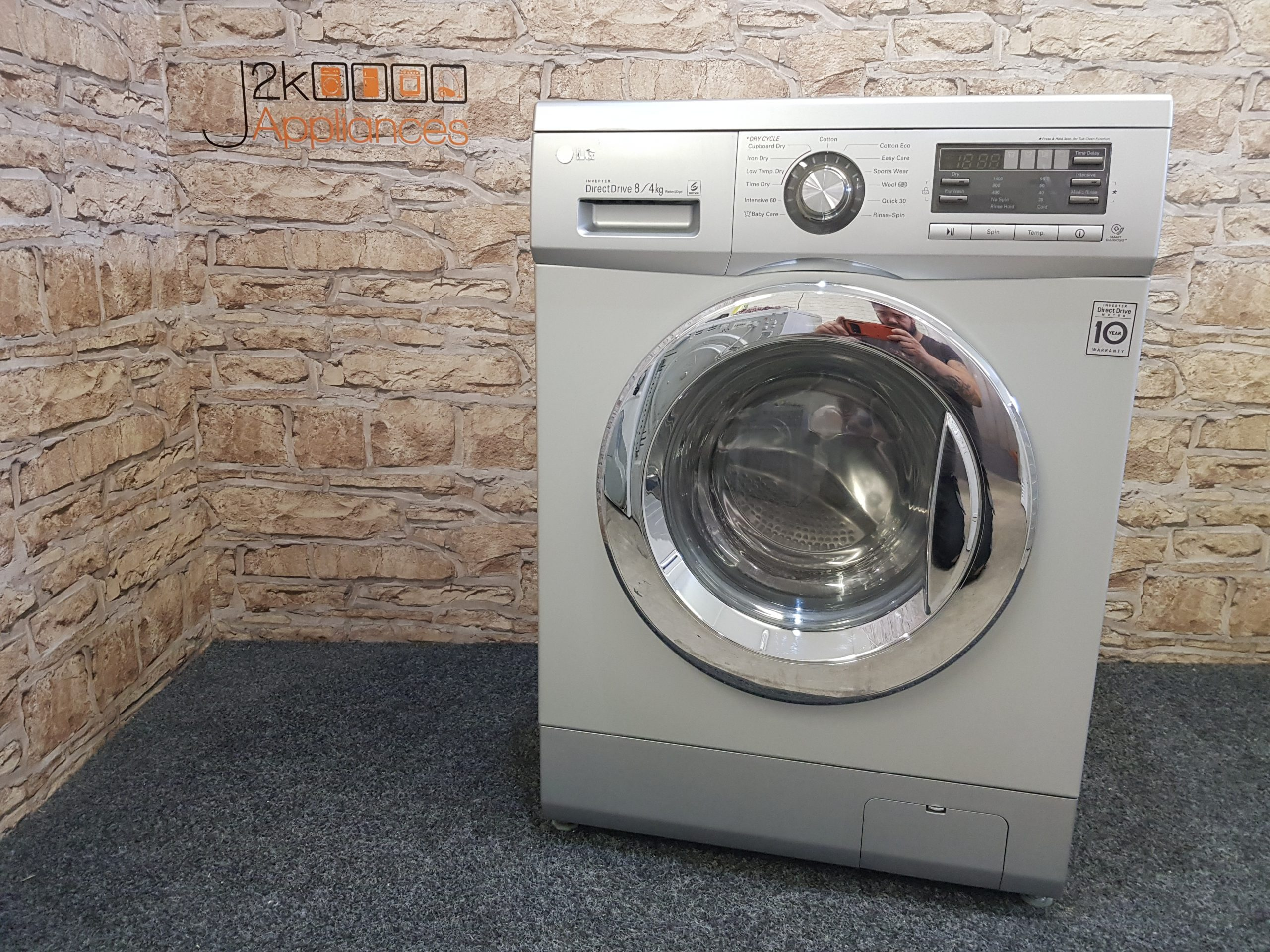 Lg Direct Drive 8 4kg 1400rpm F1496ad5 Washer Dryer J2k